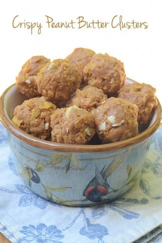 Crispy Peanut Butter Clusters