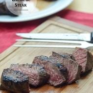 Whiskey Balsamic Steak