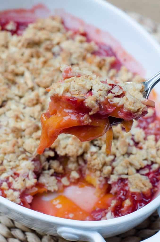 Peach Strawberry Crisp-148