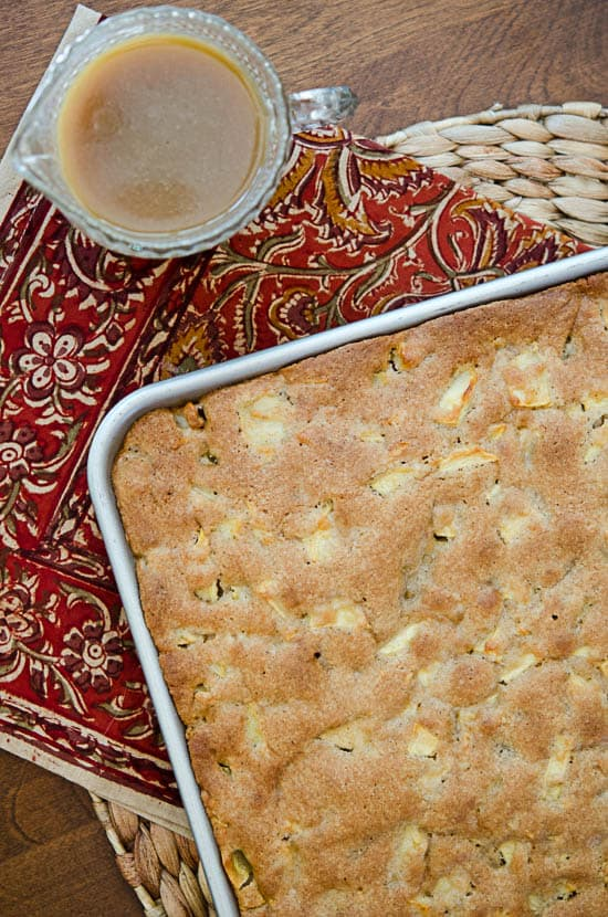 Apple Cake with Butterscotch Sauce-107