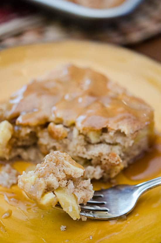 Apple Cake with Butterscotch Sauce-224