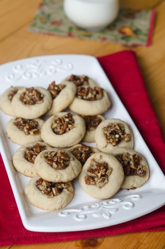 Pecan Pie Thumbprints