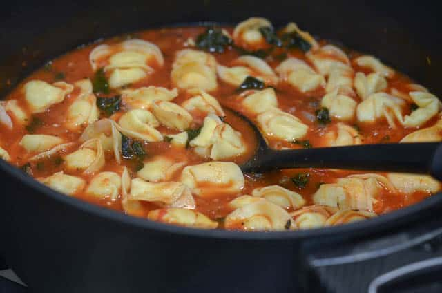 Sausage and Tortellini Soup with Kale-058