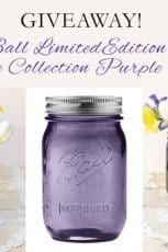 Ball Heritage Collection Purple Jar #Giveaway!