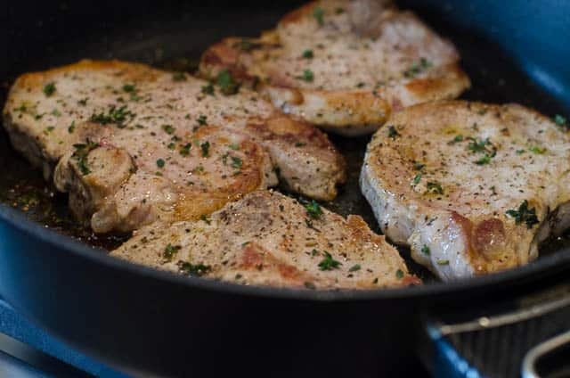 Skillet Braised Pork Chops