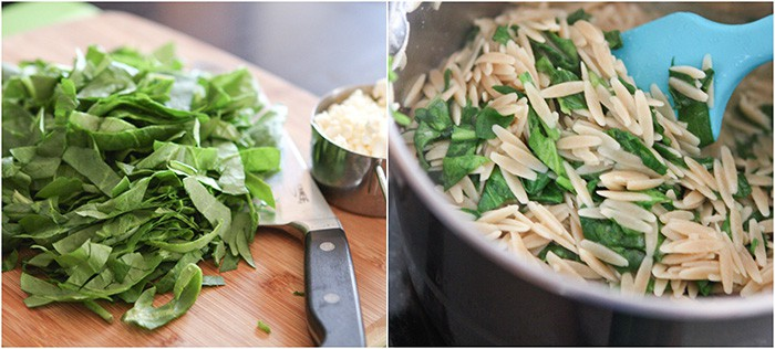 Spinach Feta Orzo Collage resized
