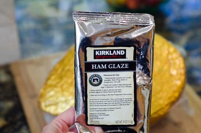Kirkland Brand Spiral Ham glaze packet.