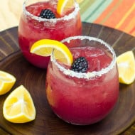 Blackberry Lemonade Margaritas