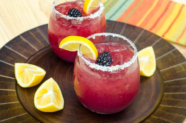 Blackberry Lemonade Margaritas
