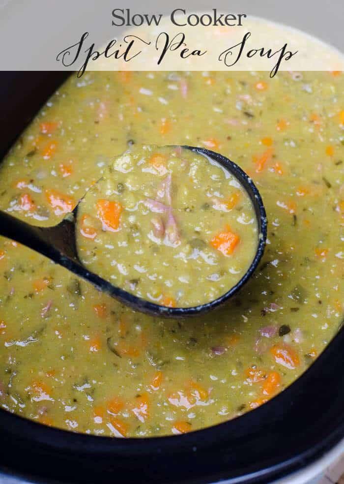 Slow Cooker Split Pea Soup Valerie S Kitchen