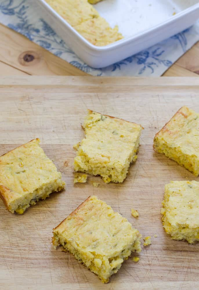 Simple ingredients dress up packaged corn muffin mix to create this super moist and flavorful Jiffy Mexican Style Cornbread with a cake-like texture.