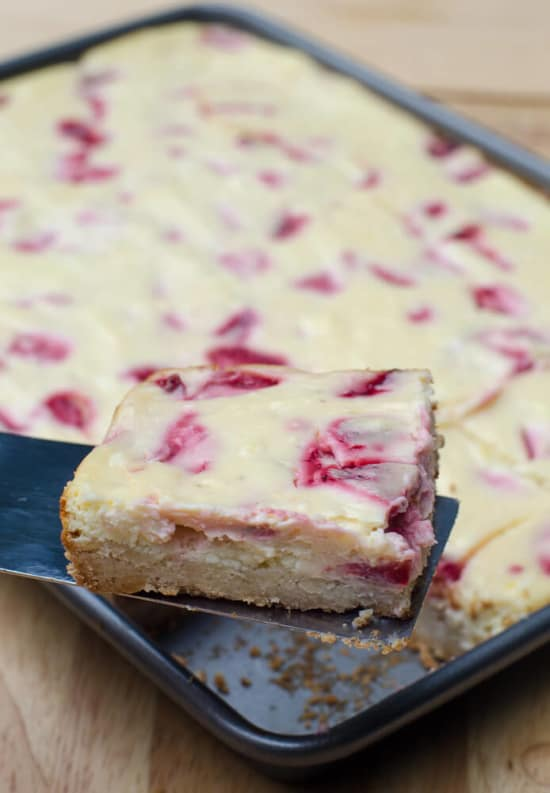 Strawberry Cheesecake Cookie Bars