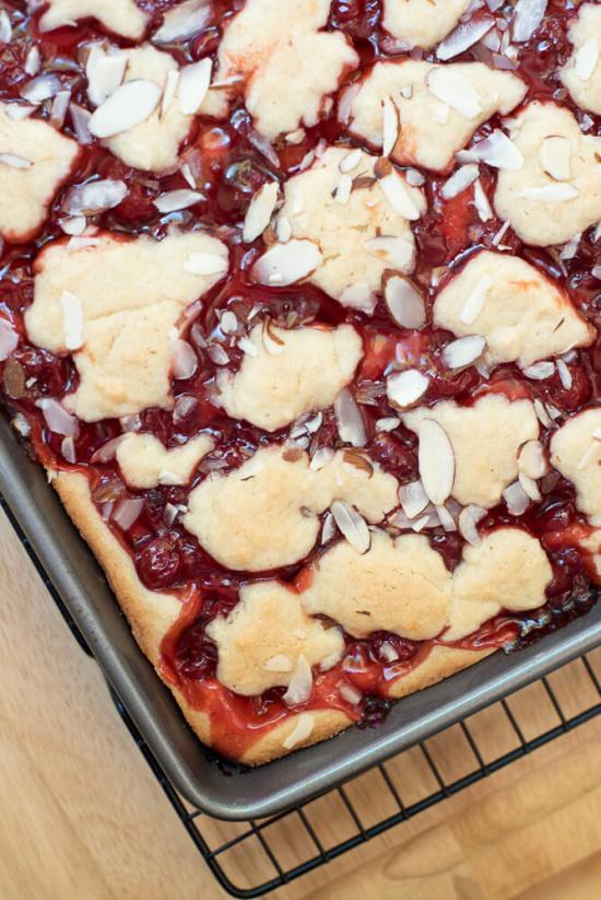 Cherry Pie Bars - Valerie's Kitchen