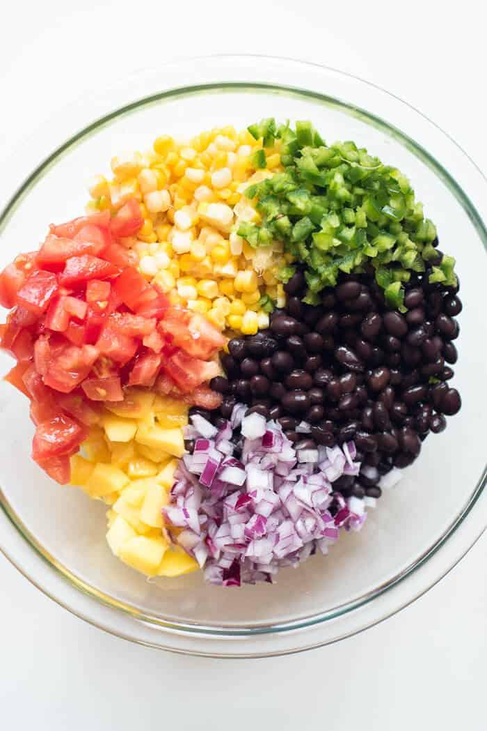 Mango Corn Salsa with Black Beans - Ingredients