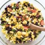 Mango Corn Salsa with Black Beans