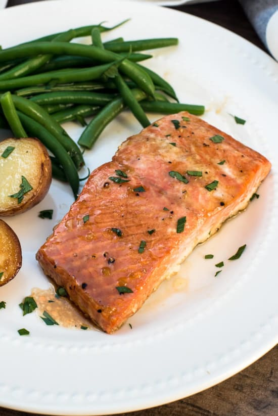 Oven Roasted Maple Salmon