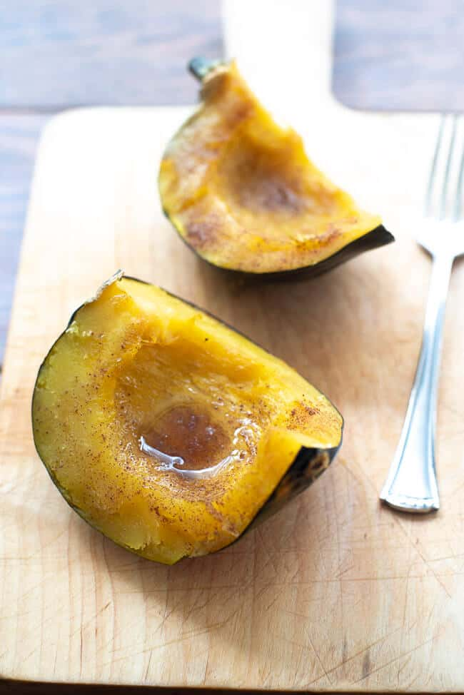 Sweet Baked Acorn Squash is easy to make and SO delicious! This acorn squash recipe is a beautiful, tasty addition to your fall and winter menus.