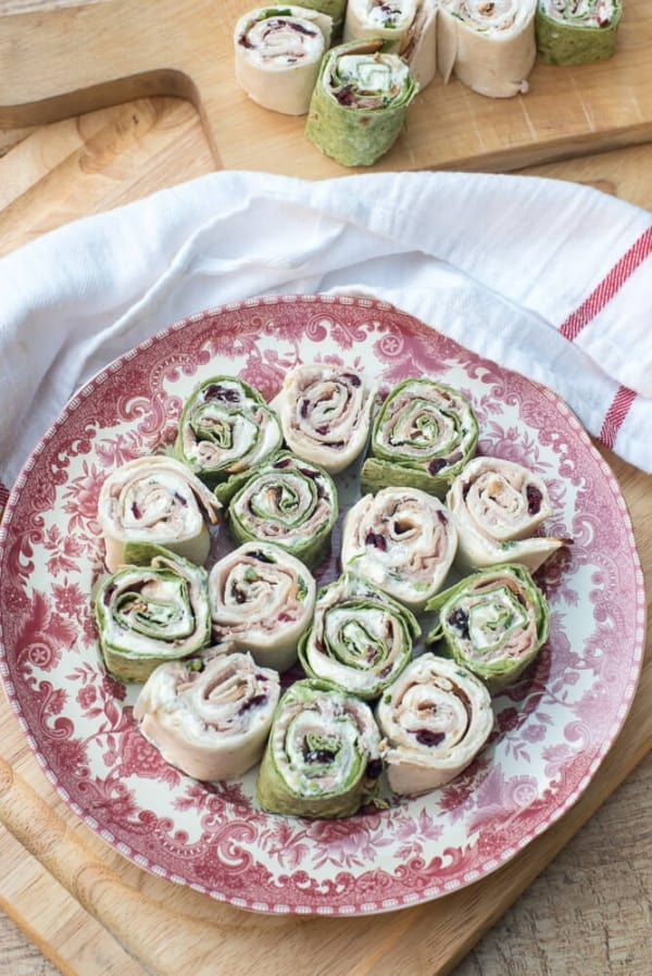 Holiday Tortilla Pinwheels   From Valerie's Kitchen