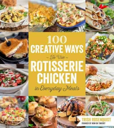 100 Creative Ways to Use Rotisserie Chicken cookbook cover