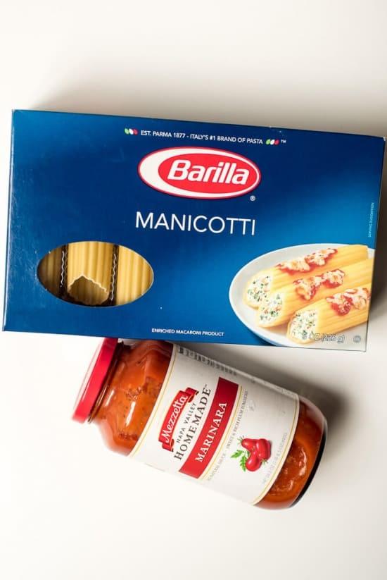 Barilla Manicotti and Mezzetta Homemade Marinara