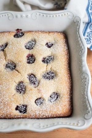 Blackberry Buttermilk Snack Cake