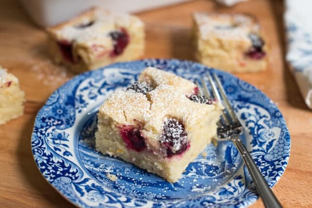 Blackberry Buttermilk Snack Cake