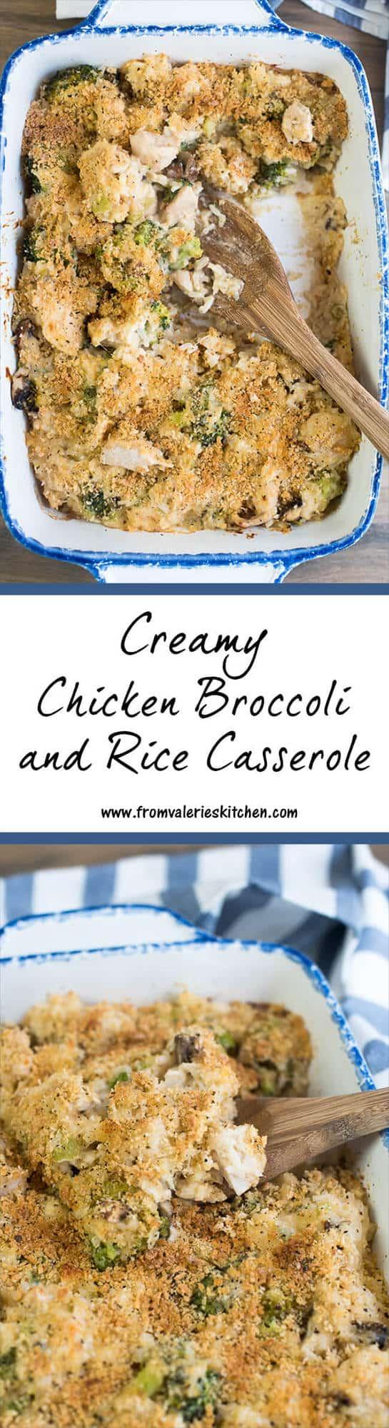Creamy Chicken Broccoli and Rice Casserole