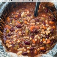 Slow Cooker Hamburger Minestrone
