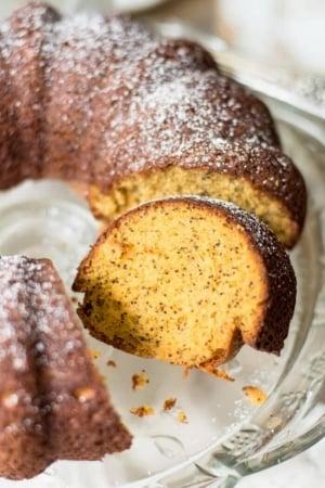 Butterscotch Poppy Seed Bundt Cake