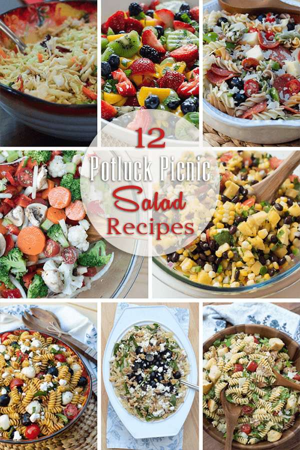 Whether it's a casual, fun weekend dinner in your backyard or an organized event at a park with friends, these 12 fresh and fabulous potluck picnic salad recipes are sure to please.