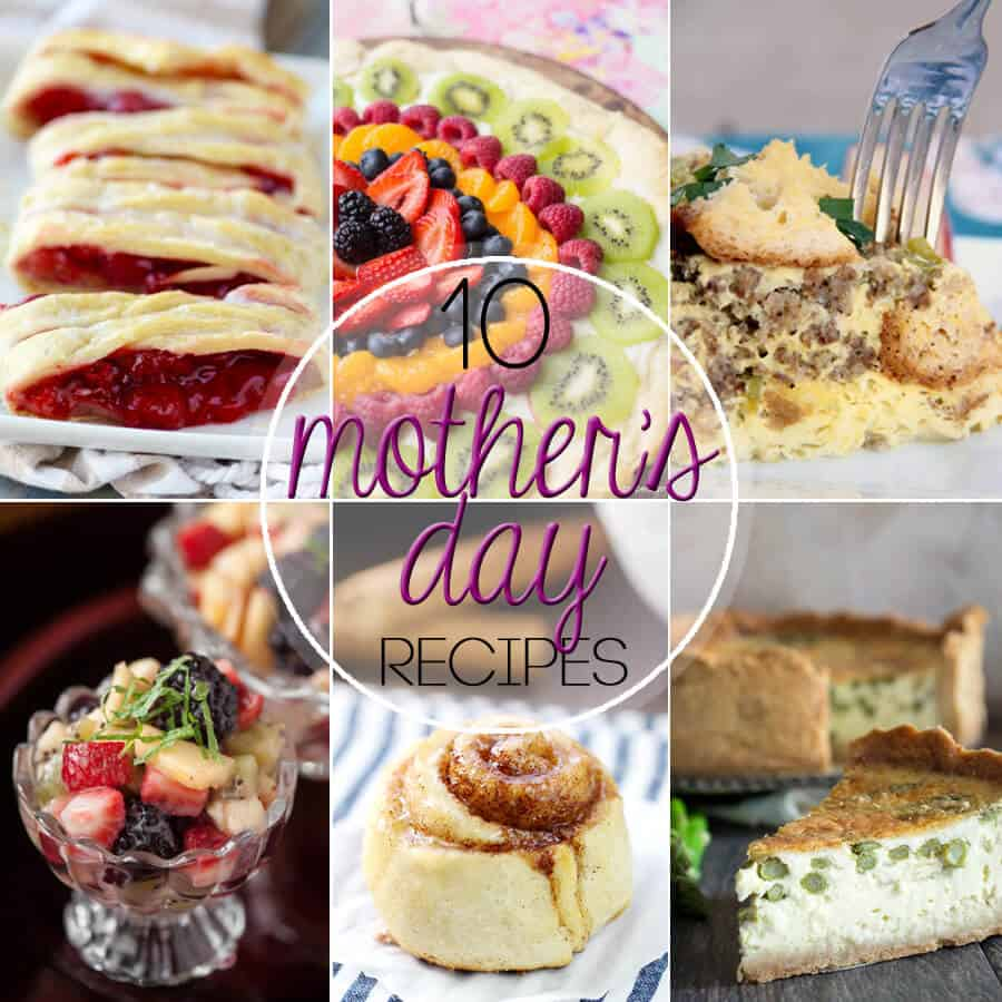 Make it a special Mother's Day this year by including one or more of these 10 Great Mother's Day Recipes in your celebration.