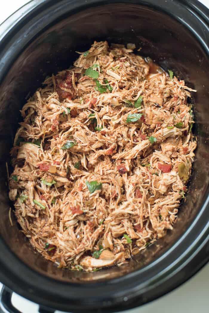 Easy Slow Cooker Chicken Enchiladas Valerie S Kitchen