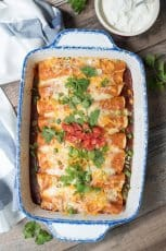 Easy Slow Cooker Chicken Enchiladas