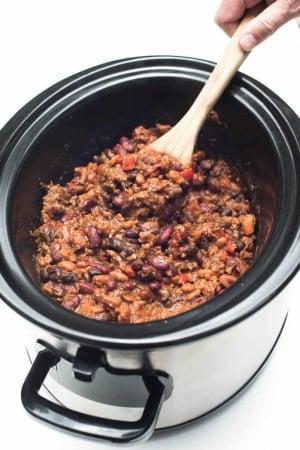 Slow-Cooker 3-Bean Cowboy Beans