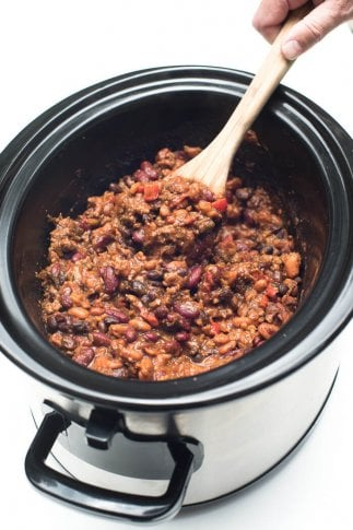 Slow-Cooker 3-Bean Cowboy Beans