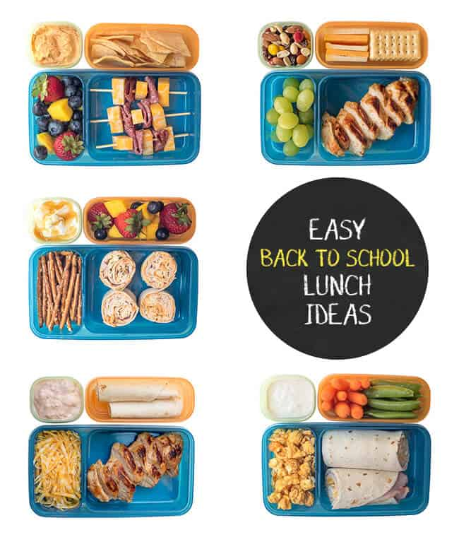 A whole week of no-sweat Back to School Lunch Ideas you can make in 5 minutes or less!