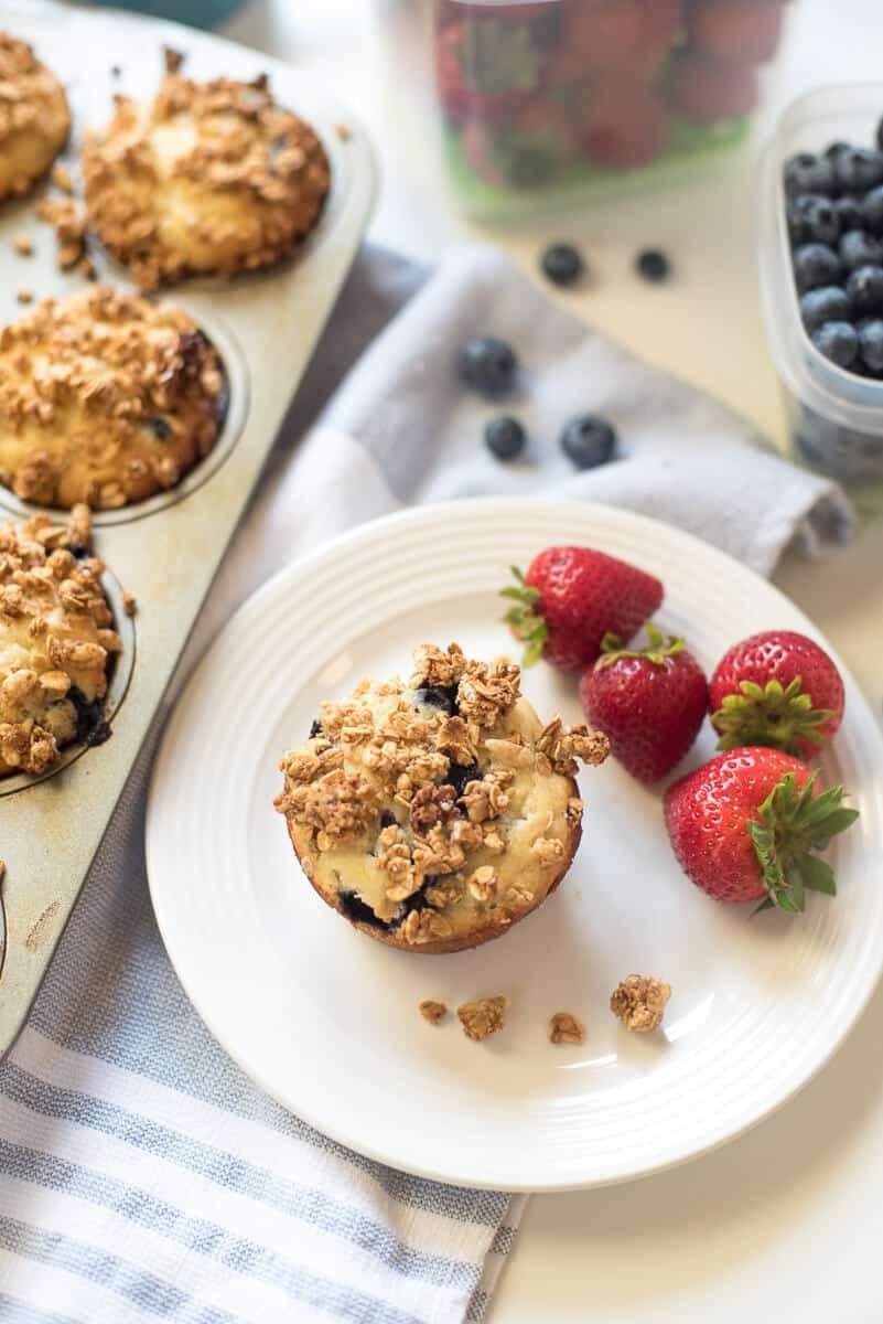 Blueberry Granola Crunch Muffins