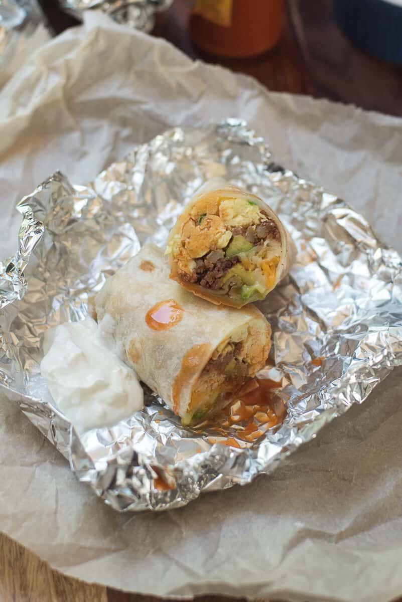Corned Beef Hash Breakfast Burritos