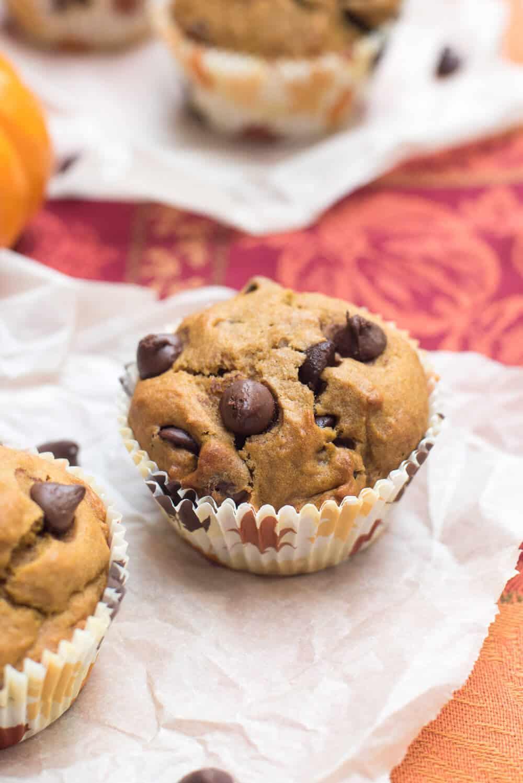 Pumpkin Chocolate Chip Muffins - Valerie's Kitchen