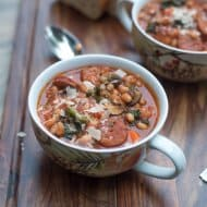 Sausage White Bean and Kale Stew
