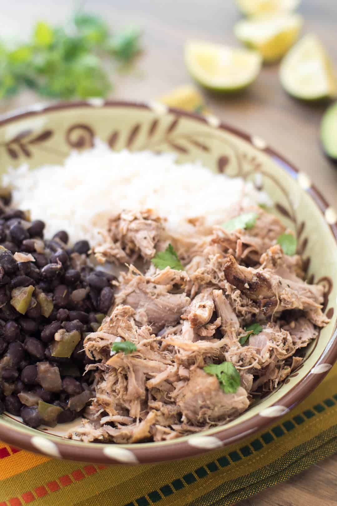Slow Cooker Cuban Pork with Black Beans