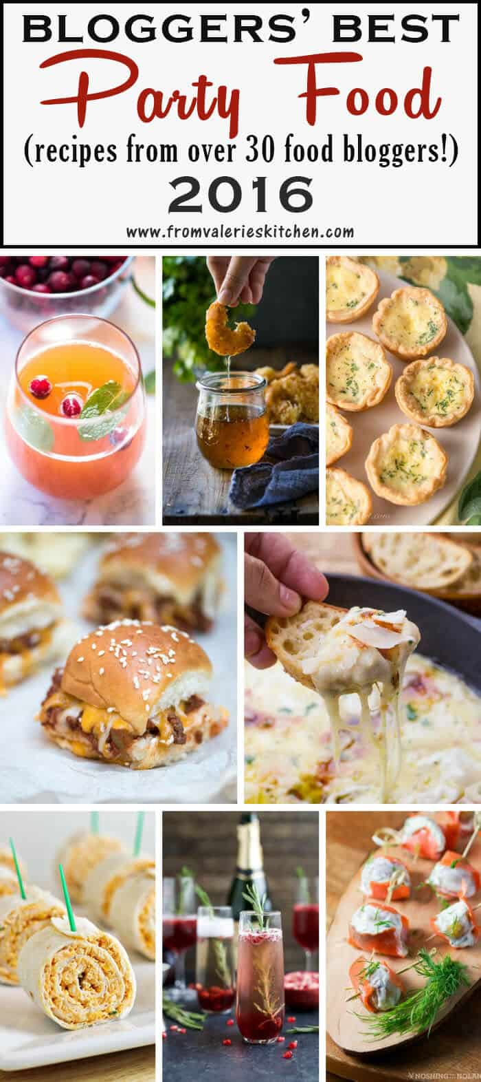 You are guaranteed to find something tasty to eat and drink at your next party in this collection of Bloggers' Best Party Food 2016. The best of the best from over 30 food bloggers!
