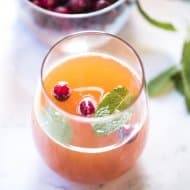 Cranberry Peach Prosecco Punch