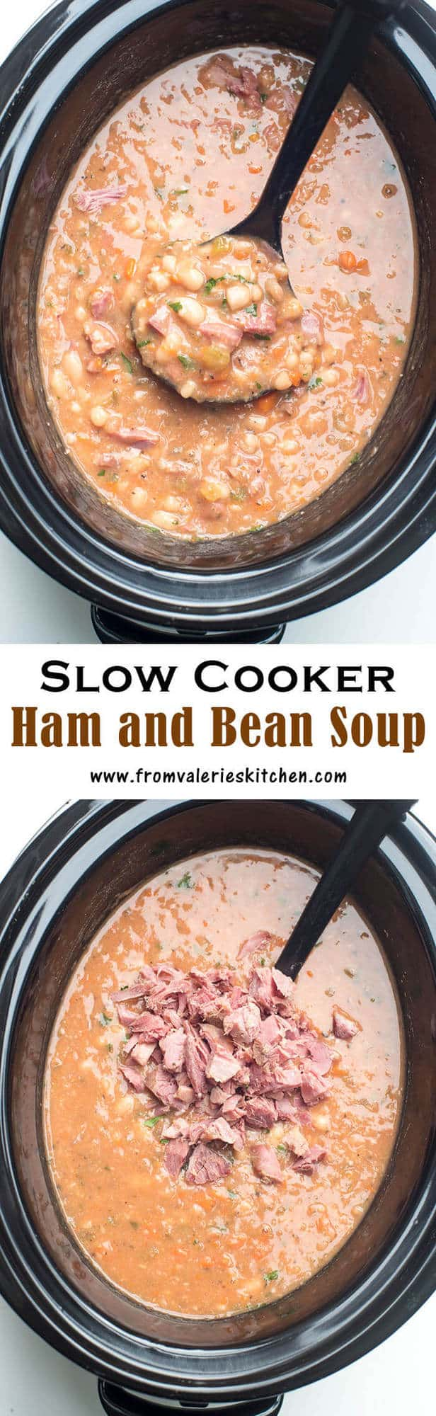 A great way to make use of the ham bone from your holiday ham. This Slow Cooker Ham and Bean Soup is the perfect post-holiday comfort food!