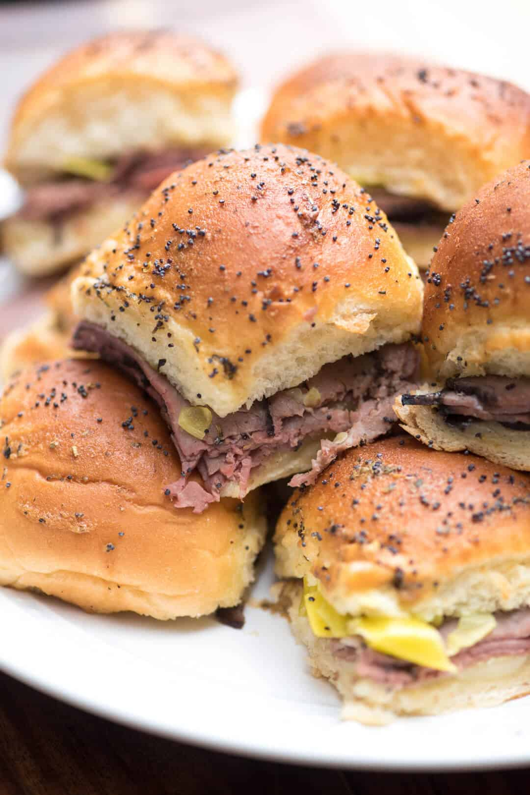 Small but mighty, these Italian Roast Beef Sliders involve simple ingredients, take just minutes to prepare and are packed with flavor!