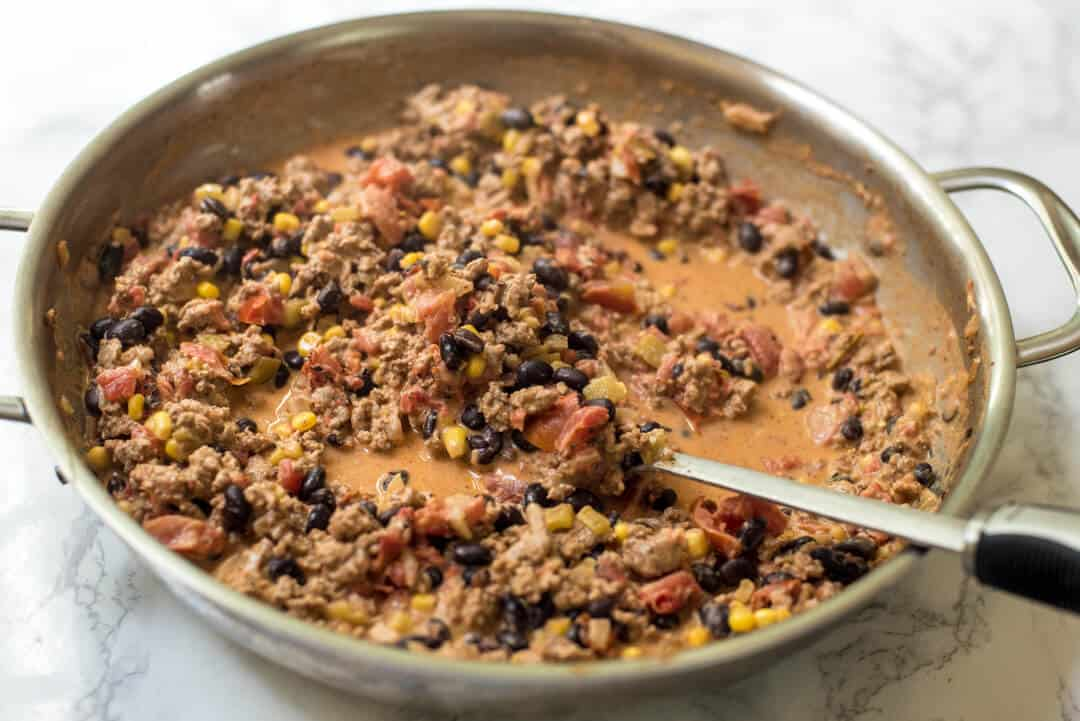 Turkey Black Bean Enchilada Bake