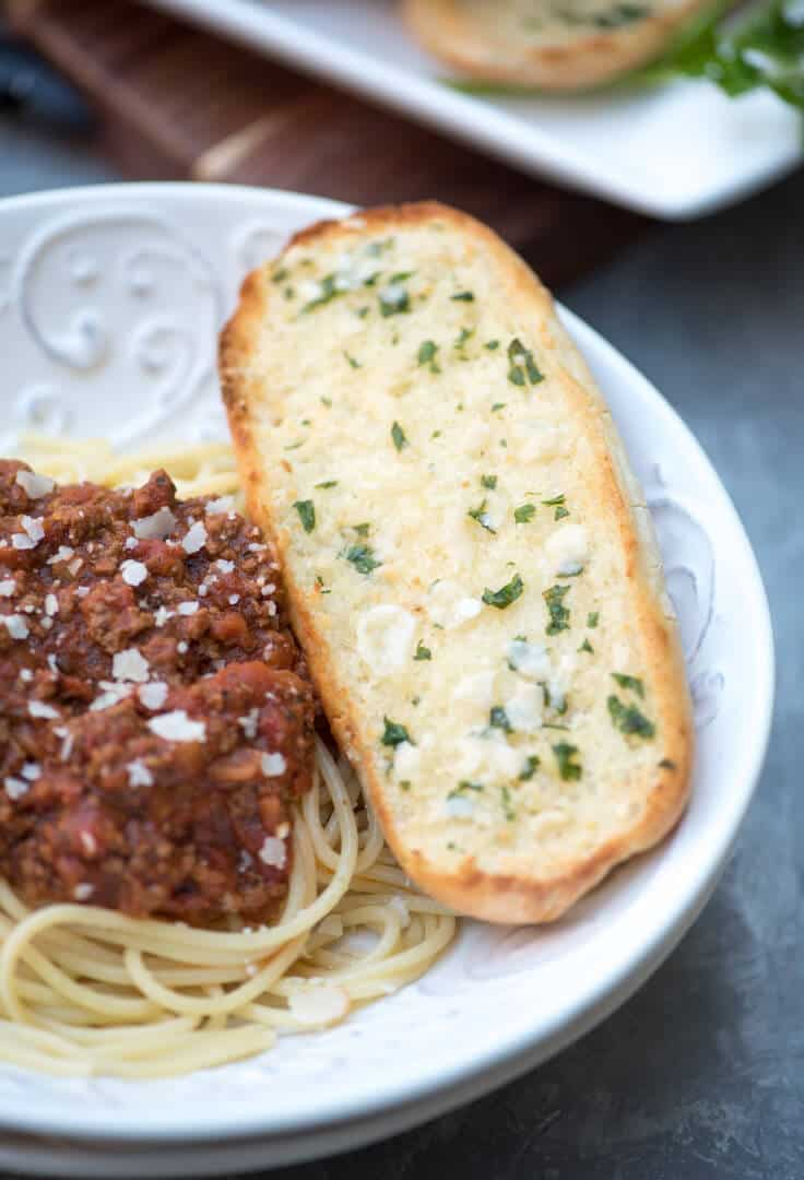 Make use of leftover sandwich rolls to create this easy peasy Cheater Garlic Bread. It takes just minutes to prepare and is surprisingly delicious!