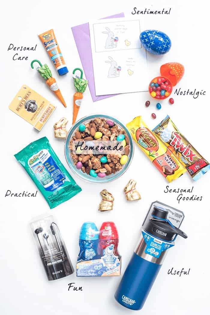 Lots of great college care package ideas for Easter and beyond. Idea starters to help you create a fun and meaningful care package for your college kids!