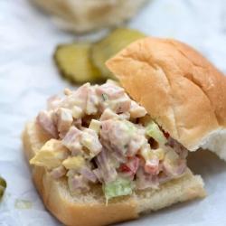 Ham Salad on a slider bun.