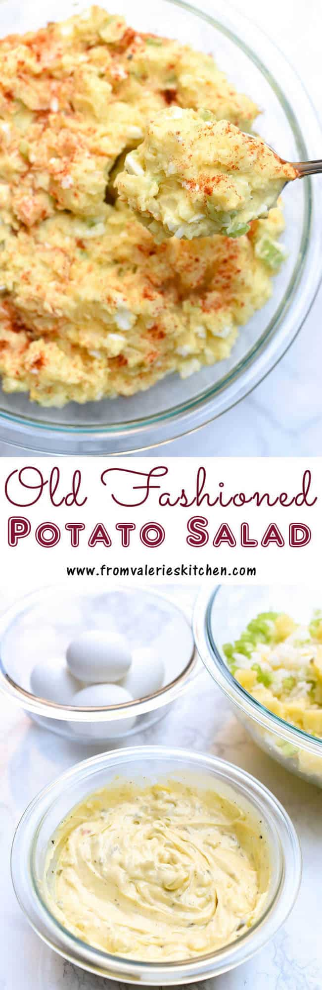 This Old Fashioned Potato Salad recipe is a delicious, fail-proof version of the classic potluck dish. Get my tips for a fabulous result every time!